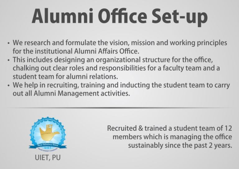 Alumni Office Set Up